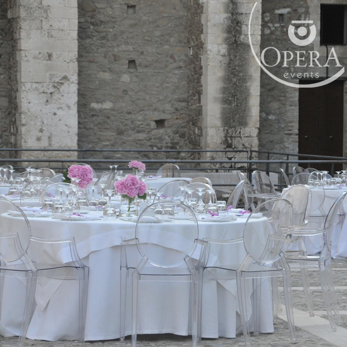 Sedia Kartell Louis Ghost - Opera Events banqueting e d\'eccellenza