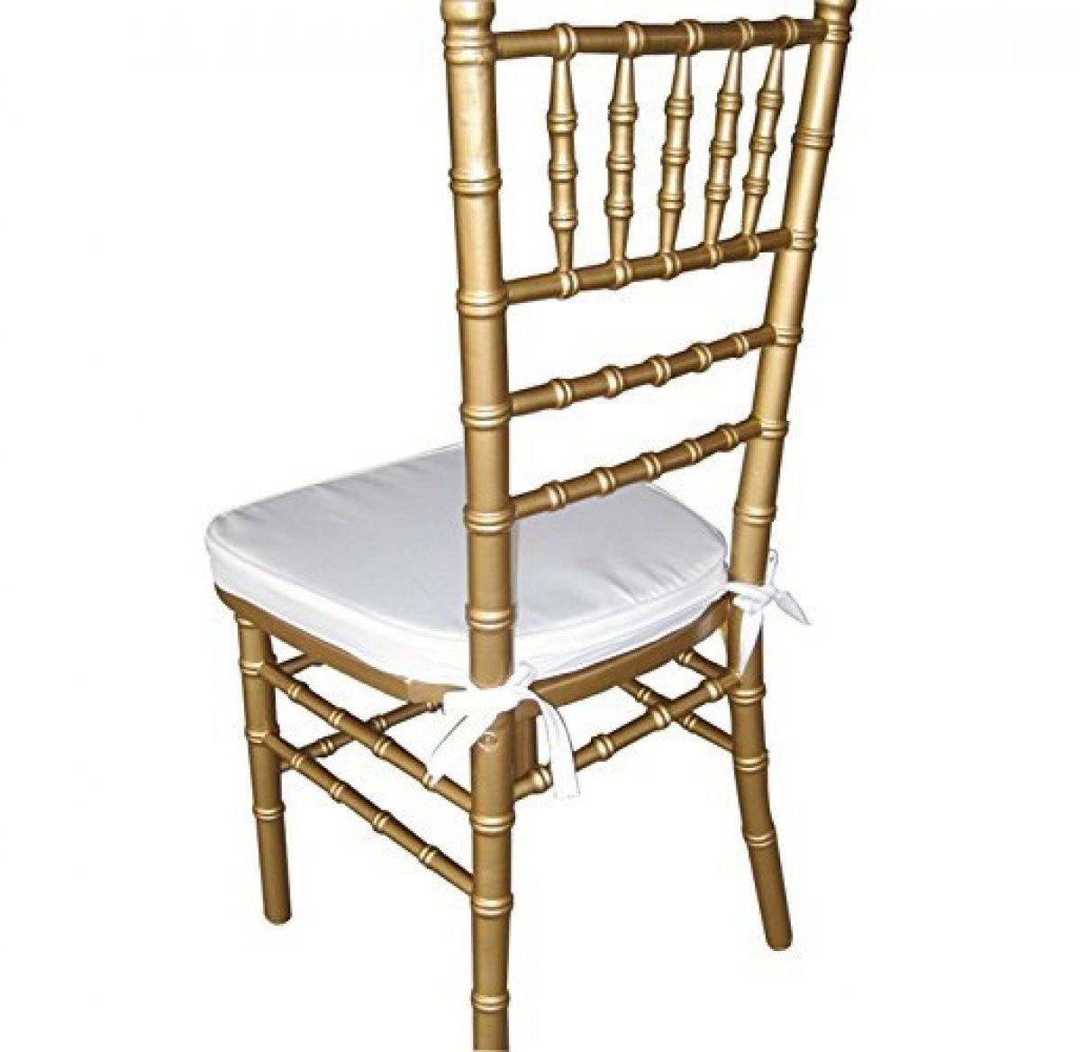 Noleggia sedia chiavarina oro completa di cuscino bianco o nero opera events banqueting e d - Chiavarina sedia ...