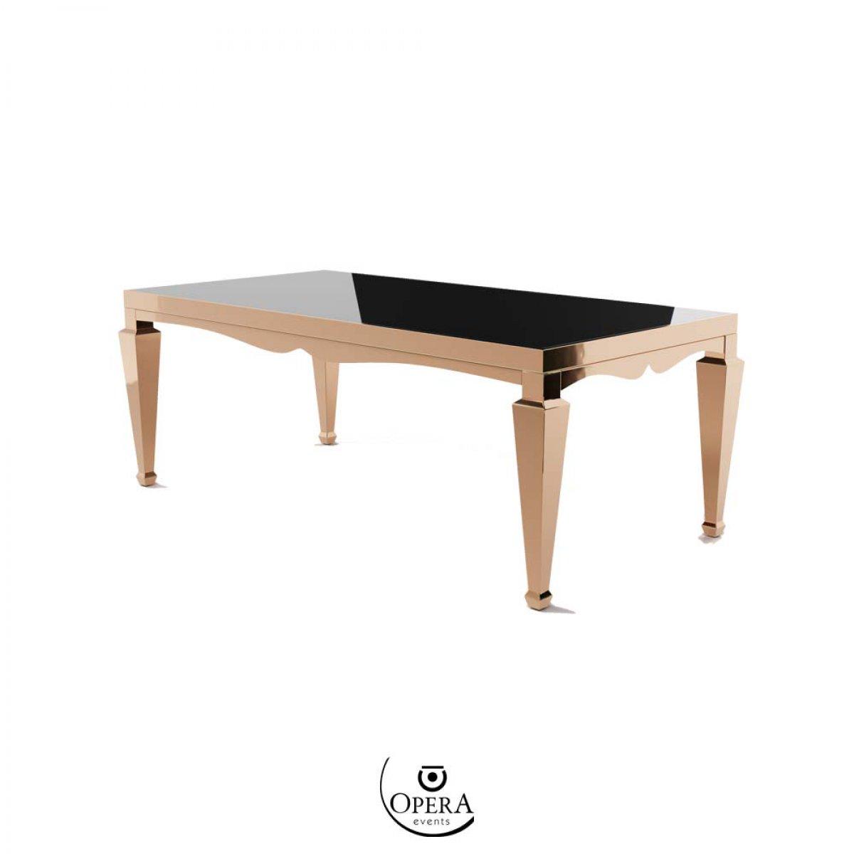 Noleggio online di tavolo rettangolare Rochefort Oro Rosa